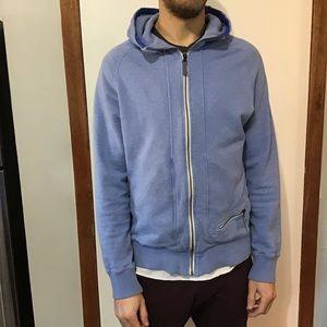 Lululemon Men's Full Zip Blue Hooded Jacket